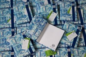 Design recyklovaných zápisníků zdílny FOREWEAR