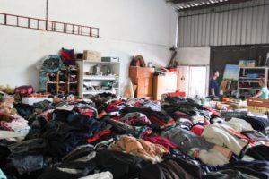 Sklad oblečení a dalších předmětů