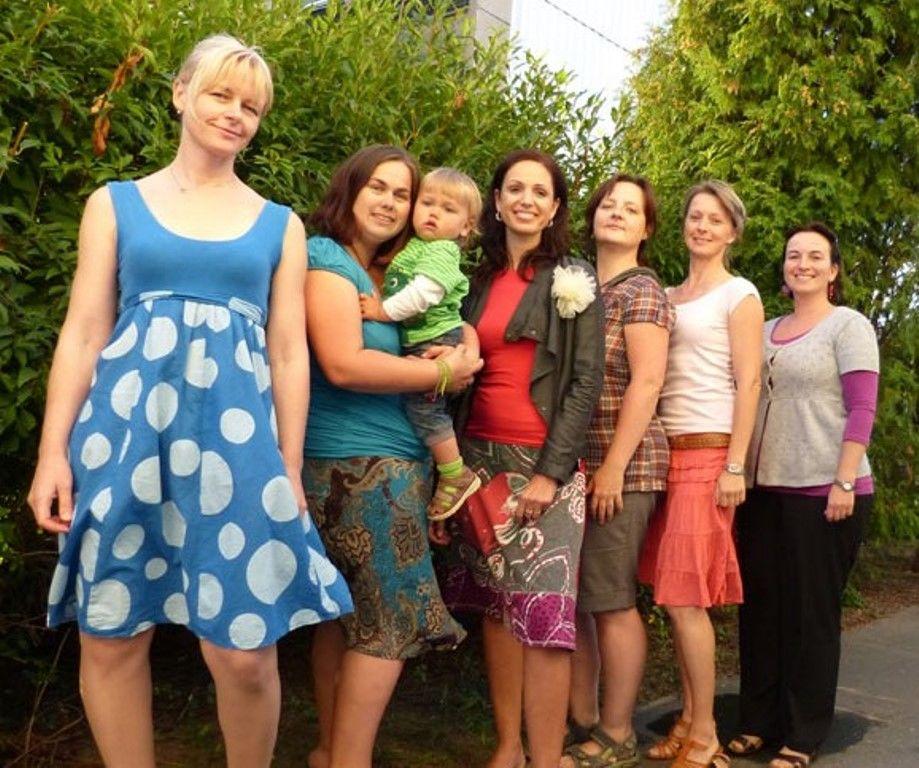 Hanka, Katka, Radka, Katka, Petra, Pavlína – přípravy na spuštění projektu léto 2012